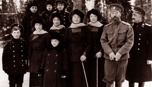 Tsar Nicholas II from the 俄国n 王室. around the time of his abdication.