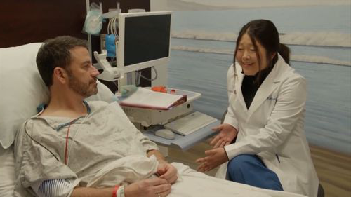 Talk show host had his first colonoscopy during colon cancer awareness month. In a bid to raise awareness for colon cancer, Jimmy Kimmel  gets colonoscopy. (ABC)
