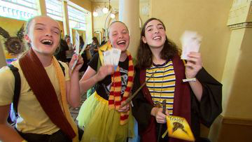 Some very happy Potter fans.